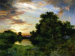 Thomas Moran | Sunset on Long Island, 1901 | Giclée Canvas Print