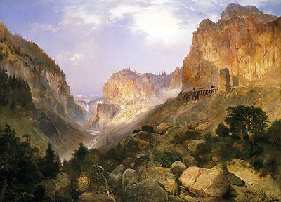 Golden Gate, Yellowstone National Park, 1893 | Thomas Moran | Painting Reproduction