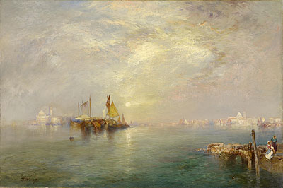 Morning, Outskirts of Venice, 1907 | Thomas Moran | Giclée Canvas Print