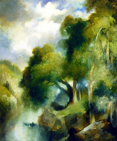 California Landscape, 1924 | Thomas Moran | Giclée Canvas Print