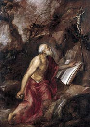 Titian | Saint Jerome in the Wilderness | Giclée Canvas Print