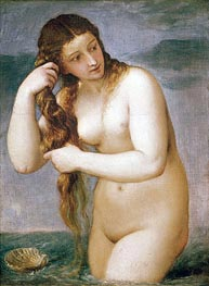 Titian | Venus Rising from the Sea (Venus Anadyomene), 1520 | Giclée Canvas Print