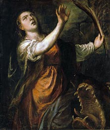 Titian | Saint Margaret and the Dragon, c.1565/70 | Giclée Canvas Print