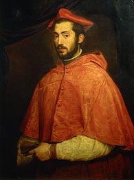 Titian | Portrait of Bishop Alessandro Farnese, c.1545/46 | Giclée Canvas Print