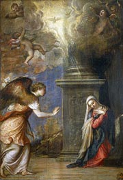 Titian | Annunciation, c.1557 | Giclée Canvas Print