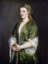 Titian | Portrait of a Lady, c.1555 | Giclée Canvas Print