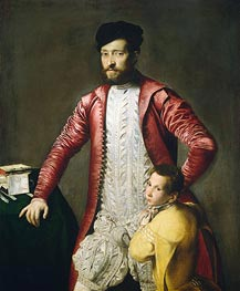 Titian | Alessandro Alberti with a Page, undated | Giclée Canvas Print