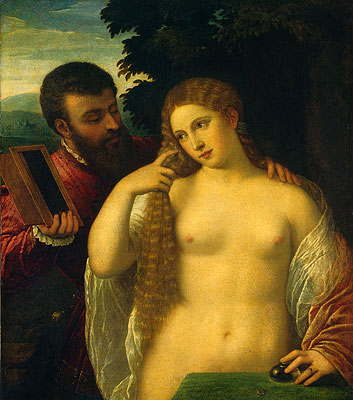 Allegory (Alfonso d'Este and Laura Dianti), undated | Titian | Painting Reproduction