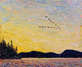 Tom Thomson | Round Lake, Mud Bay, 1915 | Giclée Canvas Print