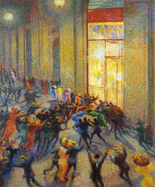 Umberto Boccioni | Riot in the Galleria (A Brawl) | Giclée Canvas Print