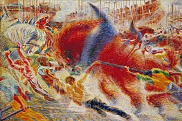 Umberto Boccioni | The City Rises | Giclée Canvas Print