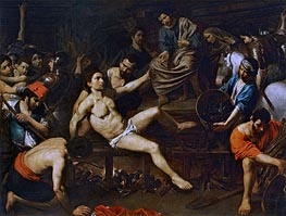 Valentin de Boulogne | The Martyrdom of Saint Laurence | Giclée Canvas Print