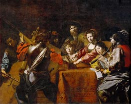 Valentin de Boulogne | Concert with Eight People | Giclée Canvas Print