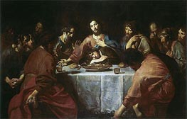 Valentin de Boulogne | Last Supper, 1625 | Giclée Canvas Print