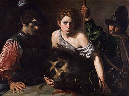 Valentin de Boulogne | David with the Head of Goliath and Two Soldiers | Giclée Canvas Print