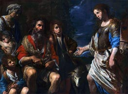 Valentin de Boulogne | Erminia and the Shepherds, c.1630 | Giclée Canvas Print