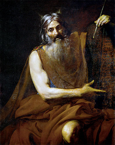 Moses with the Tablets of the Law, c.1627/32 | Valentin de Boulogne | Giclée Canvas Print