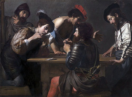 Soldiers Playing Cards and Dice (The Cheats), c.1618/20 | Valentin de Boulogne | Giclée Canvas Print