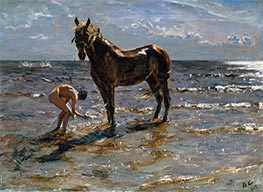 Valentin Serov | Bathing of a Horse, 1905 | Giclée Canvas Print