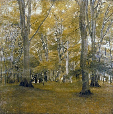 Forest Interior (The Big Trees), 1896 | Hammershoi | Giclée Canvas Print