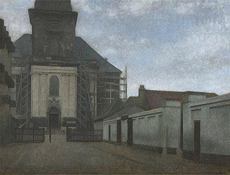 Strandgade with Christians Kirke in the Background, c.1907/08   Hammershoi   Giclée Canvas Print