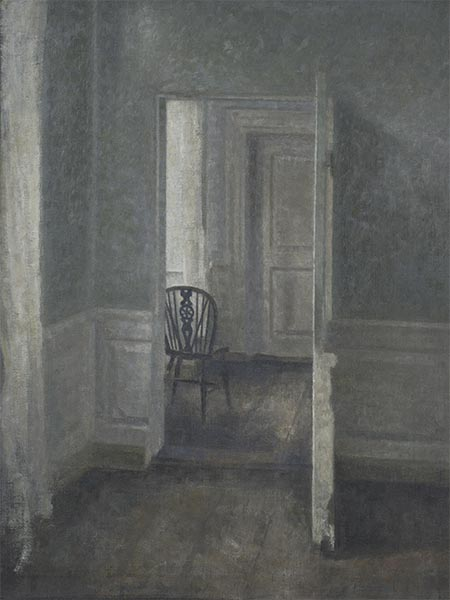 Interior with a Windsor Chair, 1913 | Hammershoi | Giclée Canvas Print