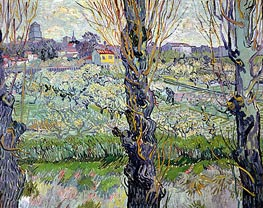 Vincent van Gogh | Orchard in Bloom with View of Arles | Giclée Canvas Print