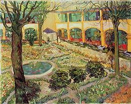 Vincent van Gogh | The Courtyard of the Hospital at Arles | Giclée Canvas Print