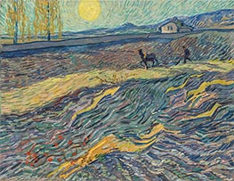 Vincent van Gogh | Enclosed Field with Ploughman | Giclée Canvas Print