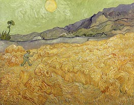 Vincent van Gogh | Wheatfield with a Reaper | Giclée Canvas Print
