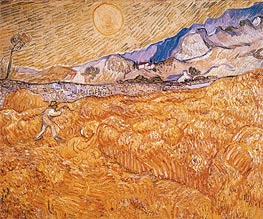 Vincent van Gogh | Wheat Field Behind Saint-Paul Hospital with Reaper | Giclée Canvas Print