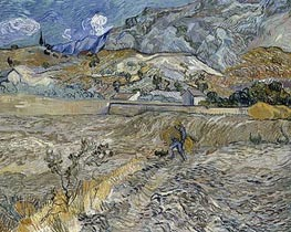 Vincent van Gogh | Enclosed Wheat Field with Peasant | Giclée Canvas Print