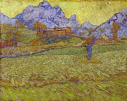 Vincent van Gogh | Wheatfields in a Mountainous Landscape | Giclée Canvas Print