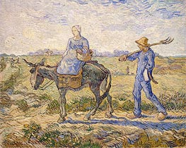 Vincent van Gogh | Morning: Going out to Work (After Millet)   | Giclée Canvas Print