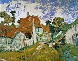 Vincent van Gogh | Village Street in Auvers | Giclée Canvas Print