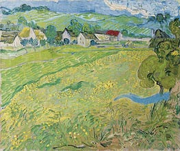 Vincent van Gogh | View of Vessenots Near Auvers | Giclée Canvas Print