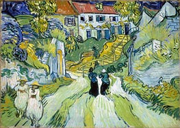 Vincent van Gogh | Village Street and Stairs with Figures | Giclée Canvas Print