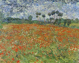 Vincent van Gogh | Field with Poppies | Giclée Canvas Print