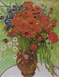 Vincent van Gogh | Still Life - Red Poppies and Daisies | Giclée Canvas Print