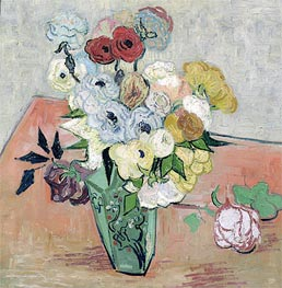 Vincent van Gogh | Still Life - Vase with Roses and Anemones | Giclée Canvas Print