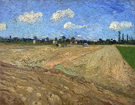 Vincent van Gogh | The Plowed Field | Giclée Canvas Print