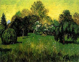 Vincent van Gogh | Public Park with Weeping Willow | Giclée Canvas Print