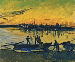 Vincent van Gogh | Coal Barges, 1888 | Giclée Canvas Print