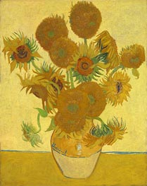 Vincent van Gogh | Still Life: Vase with Fourteen Sunflowers, 1888 | Giclée Canvas Print