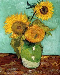 Vincent van Gogh | Three Sunflowers in a Vase, 1888 | Giclée Canvas Print