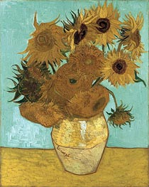 Vincent van Gogh | Still Life - Vase with Twelve Sunflowers, 1888 | Giclée Canvas Print