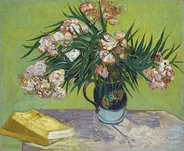 Vincent van Gogh | Still Life - Vase with Oleanders and Books, 1888 | Giclée Canvas Print