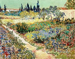 Vincent van Gogh | Flowering Garden with Path, 1888 | Giclée Canvas Print
