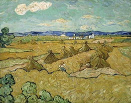 Vincent van Gogh | Wheat Stacks with Reaper | Giclée Canvas Print