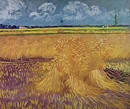 Vincent van Gogh | Wheat Field with Sheaves | Giclée Canvas Print